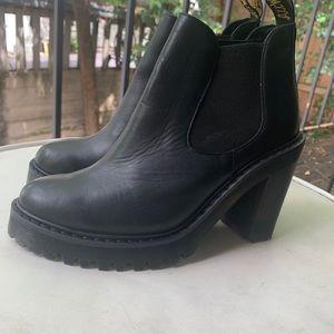 Dr Martens platform heeled boots